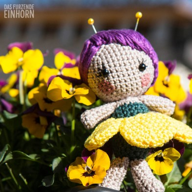 Tufted Pansy Fairy - Amigurumi