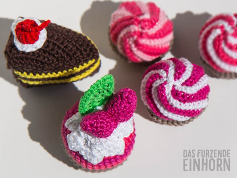 Lieber Cupcakes häkeln, als Kuchen essen