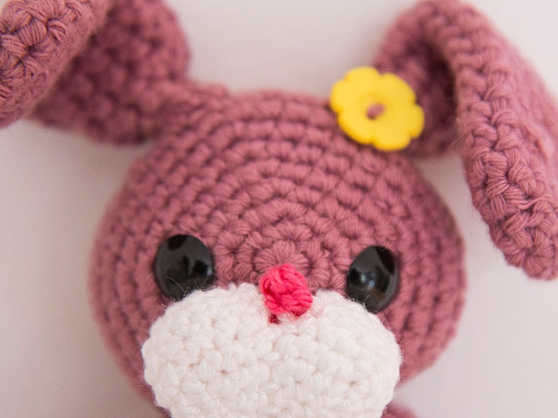 Betty-Bunny Crochet Teether