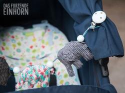 Kinderwagenkette mit Elefant blau