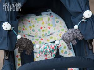 Kinderwagenkette mit niedlichen Elefant