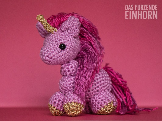 Crocheted Pink Unicorn