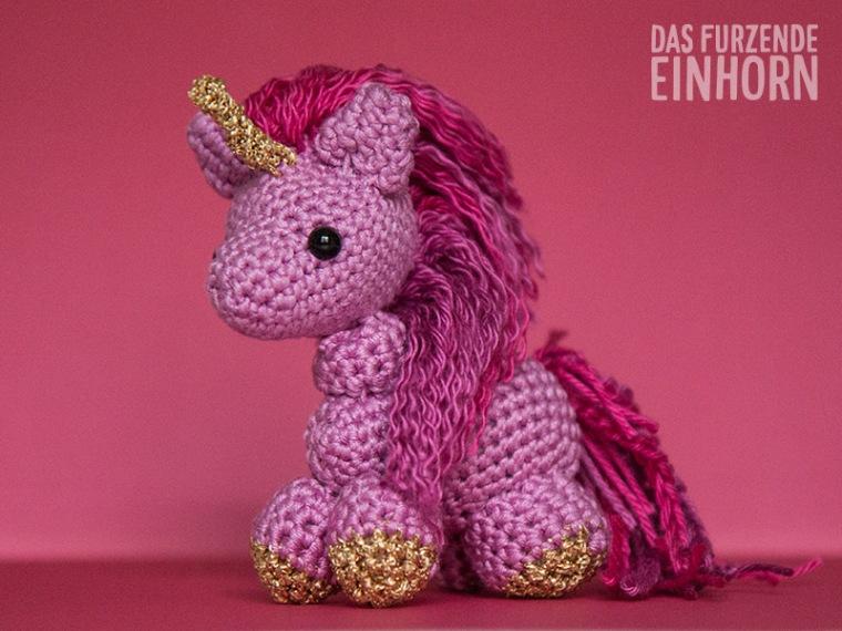 Crocheted Pink Unicorn