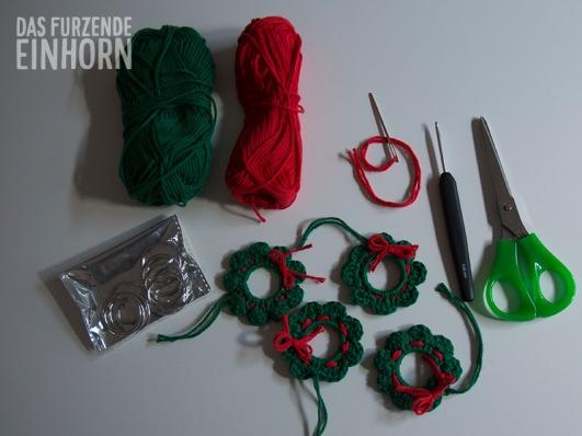 Weihnachtsdeko-Material