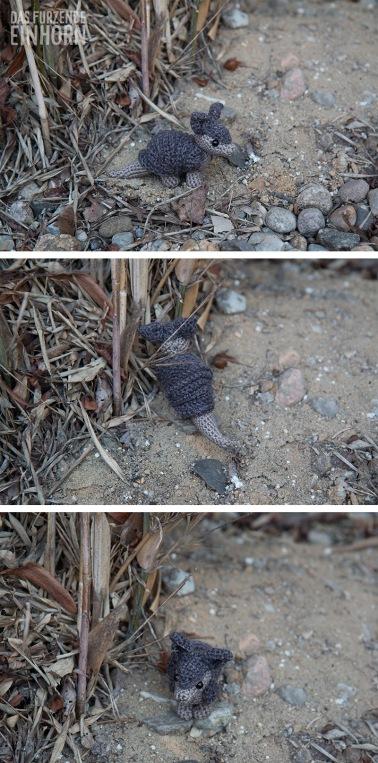 Gürteltier häkeln - crocheted armadillo
