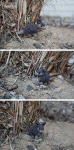 Gürteltier häkeln - crochet armadillo