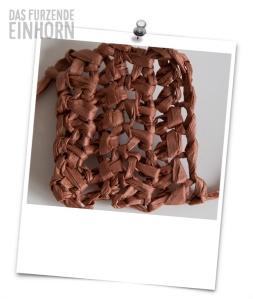 paper yarn worked in double crochets