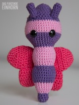 Crocheted baby shower gift for a girl