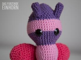crocheted butterfly rattle