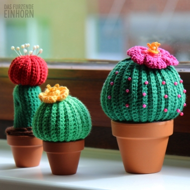 Gehäkeltes Kaktus-Nadelkissen