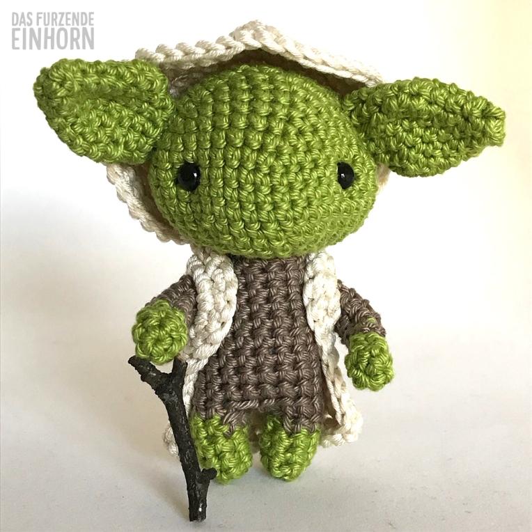 Gehäkelter Yoda zum Star Wars Day 2018