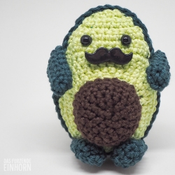 Crocheted Avocado Movember