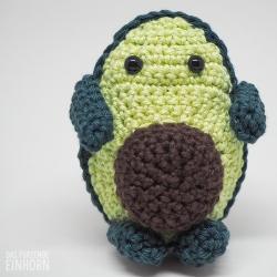 Schmollende gehäkelte Avokado